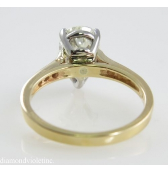 GIA 2.47ct Estate Vintage Pear Shape Diamond Engagement Wedding 14k Yellow Gold Ring with FREE Band!