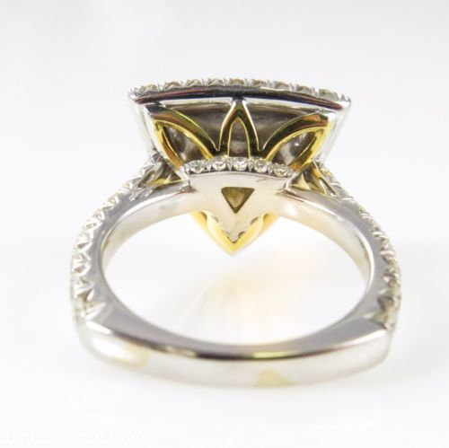4 62ct estate vintage yellow trillion engagement
