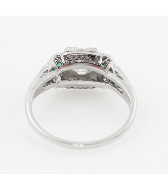 GIA 1.00ct Antique Vintage Edwardian Old Euro Diamond Engagement Wedding Ring Platinum