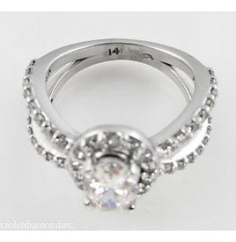 RESERVED... 1.55ct Estate Vintage Oval Diamond Engagement Wedding 14k White Gold Ring EGL USA