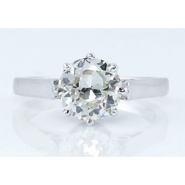 1.12ct Antique Vintage Art Deco Old European Diamond Solitaire Engagement Wedding 18k White Gold Ring EGL USA