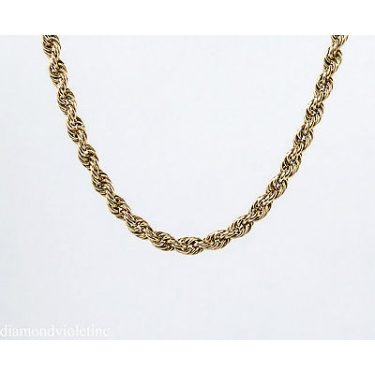 "Authentic TIFFANY&CO Estate Vintage Rope Link Chain Necklace 65"" in 18k Yellow Gold"