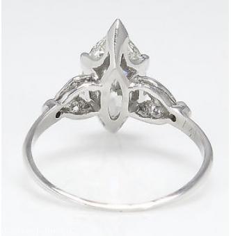2.25ct Antique Vintage Art Deco Old Euro Marquise Diamond Engagement Wedding Platinum ring EGL USA