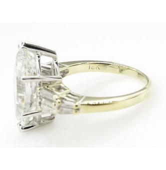 5.20ct Estate Vintage Marquise Diamond Engagement Wedding Platinum/18k Yellow Gold Ring EGL USA