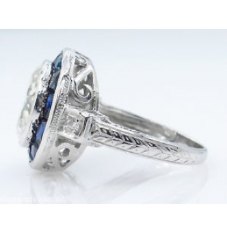 4.43ct Antique Vintage Art Deco Old European Diamond Engagement Wedding 18k White Gold Ring EGL USA
