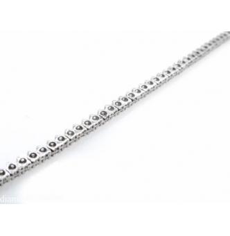 7.50ct Estate Vintage Round Diamond Tennis Necklace in 14k White Gold