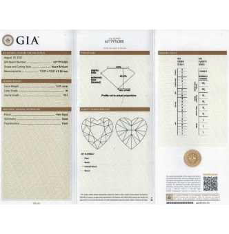 GIA 8.21ct Estate Vintage Heart Diamond 18k White Gold Engagement Anniversary Ring