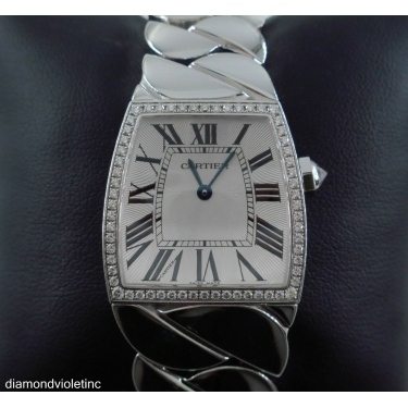 CARTIER LA DONA 29MM DIAMOND 18K WHITE GOLD LADIES WATCH